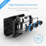 BESTEK Universal Travel Adapter 220V to 110V Voltage Converter with 6A 4-Port USB Charging and UK/AU/US/EU Worldwide Plug Adapter (Black)