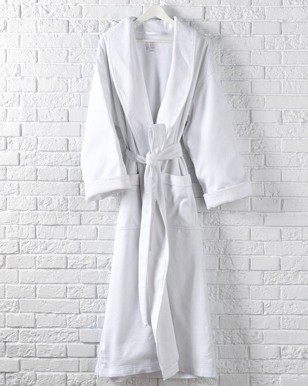 W Hotels Waffle Terry Robe (One size- White color)