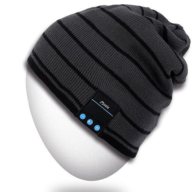 Rotibox Bluetooth Beanie Hat, Winter Outdoor Sport Premium Knit Cap with Wireless Stereo Headphone Headset Earphone Speaker Mic Hands Free Compatible with iPhone Samsung Android Cell Phones - Gray