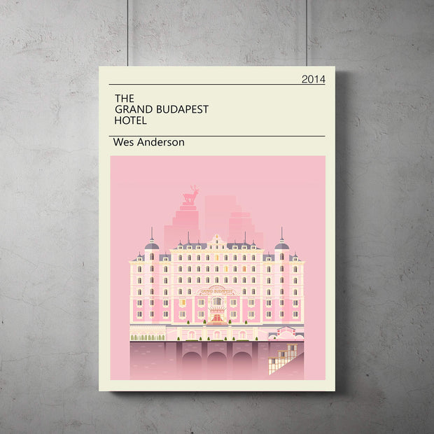 Grand Budapest Hotel vintage Poster, Grand Budapest Minimalist print, Wes Anderson Art, All Prints avialable in 9 SIZES and 3 type of MATERIALS