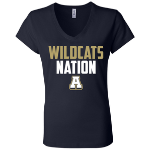 Wildcats Nation Ladies' Jersey V-Neck T-Shirt