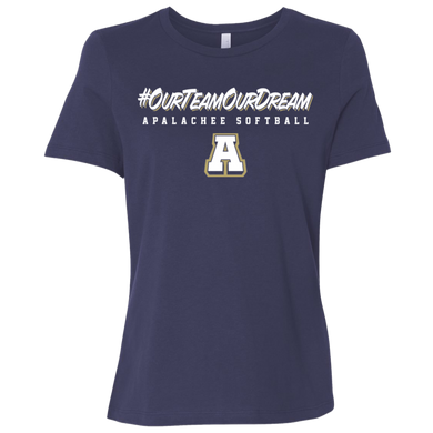 #ourteamourdream (navy) Ladies' Relaxed Jersey Short-Sleeve T-Shirt