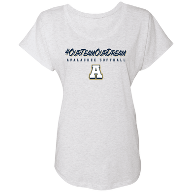 #ourteamourdream Ladies' Triblend Dolman Sleeve