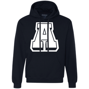A Logo (wht)  Heavyweight Pullover Fleece Sweatshirt