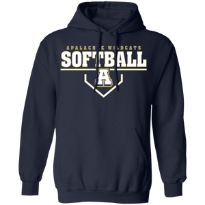 Wildcat Softball Plate Logo Pullover Hoodie 8 oz.