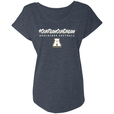 #ourteamourdream (navy) Ladies' Triblend Dolman Sleeve