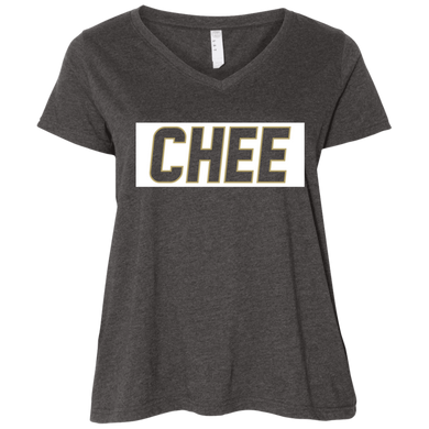 Chee Ladies' Curvy V-Neck T-Shirt