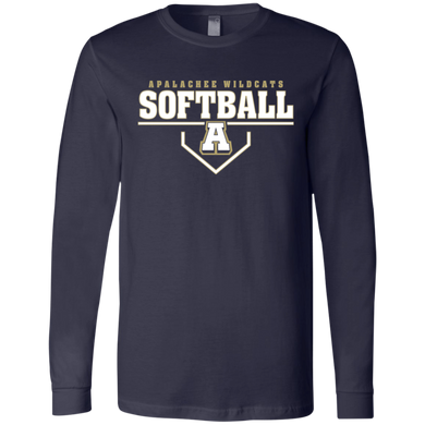 Wildcat Softball Plate Logo Jersey LS T-Shirt