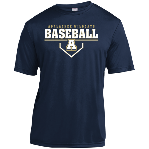 Baseball Plate Logo Youth Moisture-Wicking T-Shirt