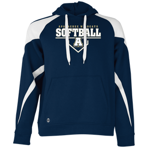 Wildcats Softball Plate Logo Colorblock Hoodie