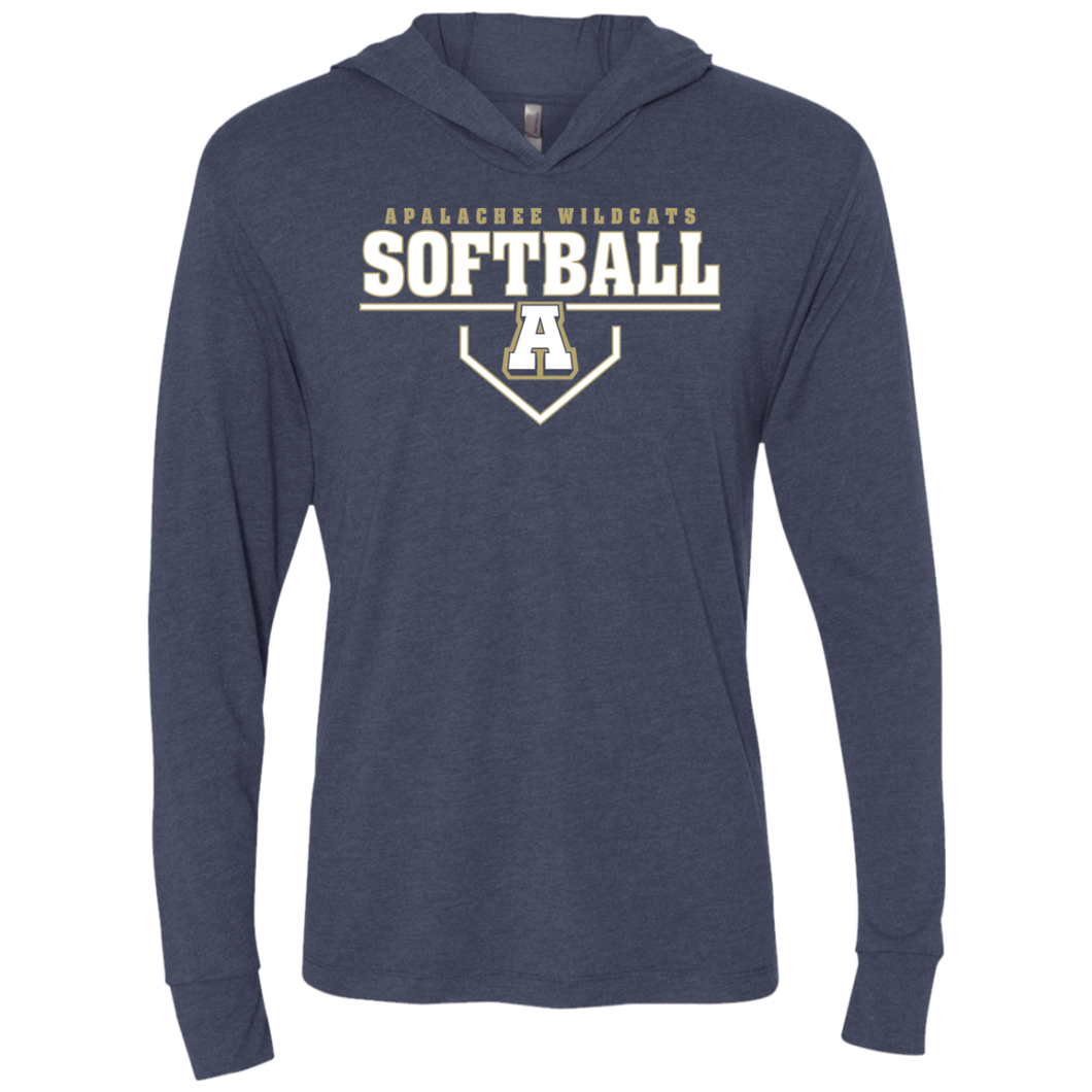 Wildcat Softball Plate Logo Unisex Triblend LS Hooded T-Shirt