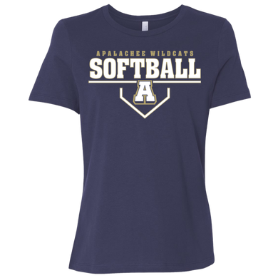 Wildcat Softball Plate Logo Ladies' Relaxed Jersey Short-Sleeve T-Shirt