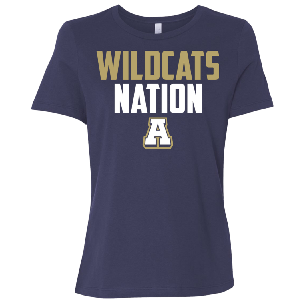 Wildcats Nation Ladies' Relaxed Jersey Short-Sleeve T-Shirt