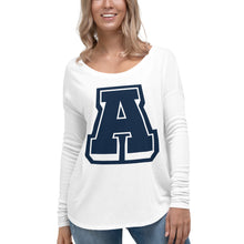 Load image into Gallery viewer, Ladies' A Logo Long Sleeve Scoop Tee