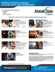 Solar Attic Fan Installation Instructions
