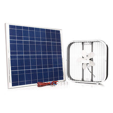 "Load image into Gallery viewer, 20"" Solar Box Fan with 75 Watt Solar Panel 