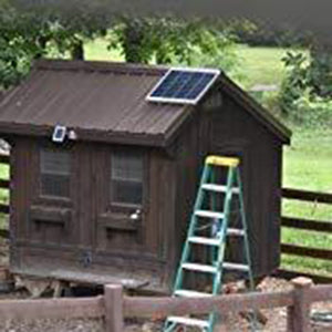 "20"" Solar Box Fan with 75 Watt Solar Panel 