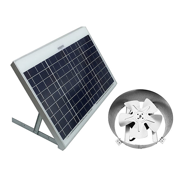 40-Watt Powered Galvanized Steel 14 inch Solar Attic Gable Fan