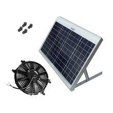 Load image into Gallery viewer, Powerful 40-Watt with 12 inch Solar Attic Gable Fan