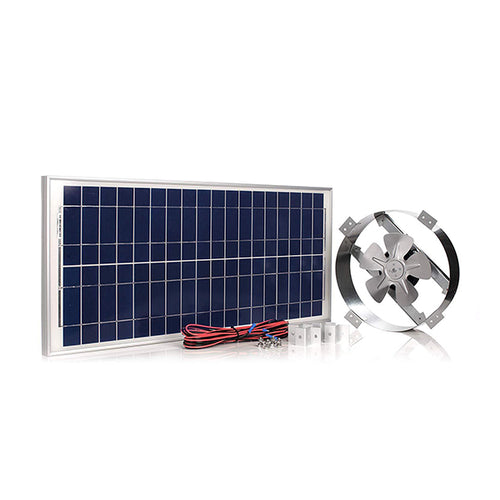 Powerful 50-Watt Galvanized Steel 14 inch Solar Attic Fan | Amtrak Solar | www.amtraksolar.com