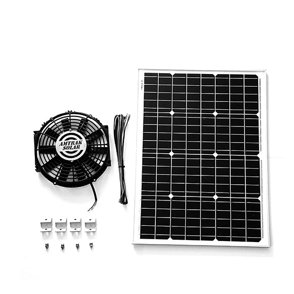 Powerful 50-Watt with 12 inch Solar Attic Fan | Amtrak Solar | www.amtraksolar.com