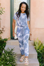 Load image into Gallery viewer, Tie Dye Blues Jumpsuit