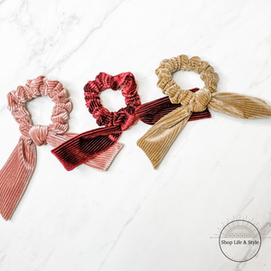 Bow Scrunchies - 3 Pack