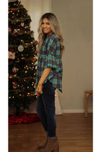 Load image into Gallery viewer, Plaid to be here ruffle sleeve top