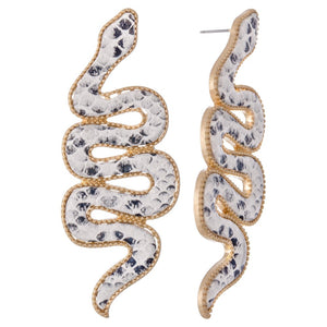Snakeskin Statement Snake Earrings