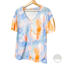 Load image into Gallery viewer, Tie-Dye Top with Cutout Design