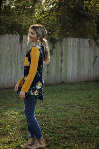 Flower power raglan top