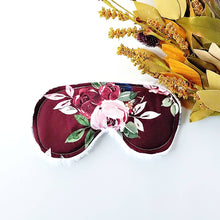 Load image into Gallery viewer, Burgundy Blush Floral Sleep Mask - Shop Life and Style