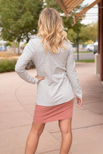 Load image into Gallery viewer, Business Casual Striped Jacket in Gray