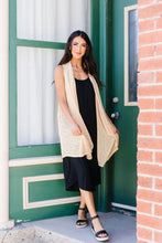 Load image into Gallery viewer, Gauzy Bohemian Cardi Vest In Gold