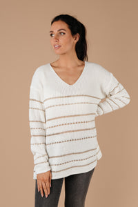 Golden Ticket Striped Sweater
