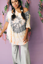 Load image into Gallery viewer, Sassy Swirl Tie Dye Tee In Gray