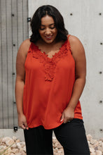 Load image into Gallery viewer, Lace Applique Camisole In Burnt Orange