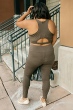 Load image into Gallery viewer, Lazy Days Racerback Bra in Deep Olive