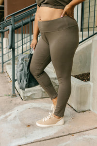 Lucy Lounging Leggings in Deep Olive