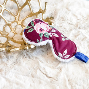Burgundy Blush Floral Sleep Mask - Shop Life and Style