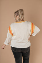 Load image into Gallery viewer, Sporty Stripe Pullover In Oatmeal