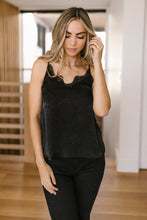 Load image into Gallery viewer, Sure Of Yourself Sheen Camisole in Black