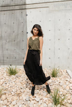 Load image into Gallery viewer, Tiered & Tied Skirt In Black