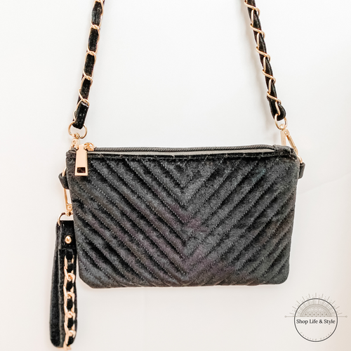 Velvet Crossbody Purse / Wristlet - Shop Life and Style