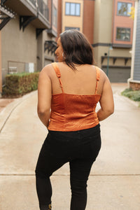 Velvet Vixen Camisole In Burnt Orange