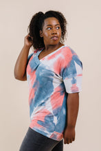 Load image into Gallery viewer, Beyond Blue Tie Dye V-Neck