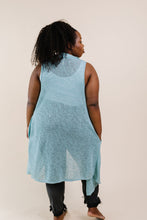 Load image into Gallery viewer, Gauzy Bohemian Cardi Vest In Sage