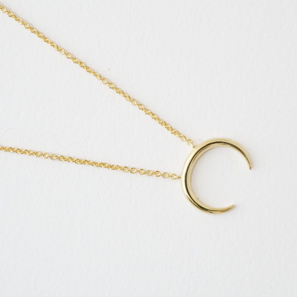 Crescent Horn Necklace - Gold or Silver - Shop Life and Style