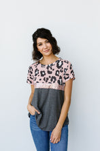 Load image into Gallery viewer, Leopard & Sequin Stripe Top