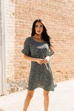 Load image into Gallery viewer, Mini Spots Ruffle Sleeve Dress